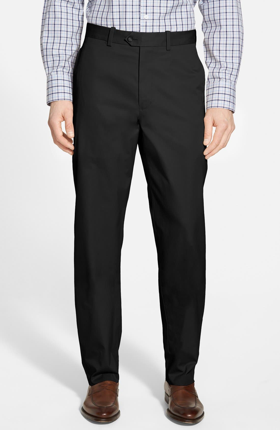 Alternate Image 1 Selected - John W. Nordstrom® Smartcare™ Flat Front Supima® Cotton Pants