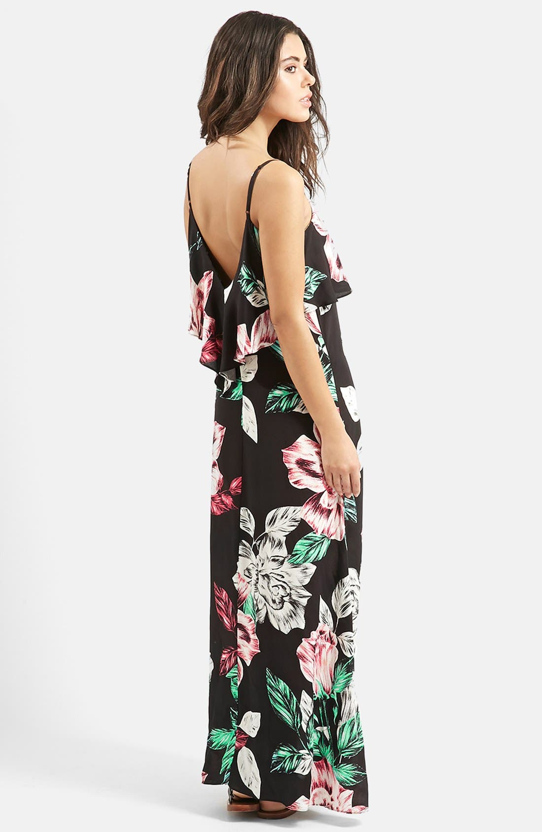 Alternate Image 2  - KENDALL + KYLIE at Topshop Overlay Maxi Dress