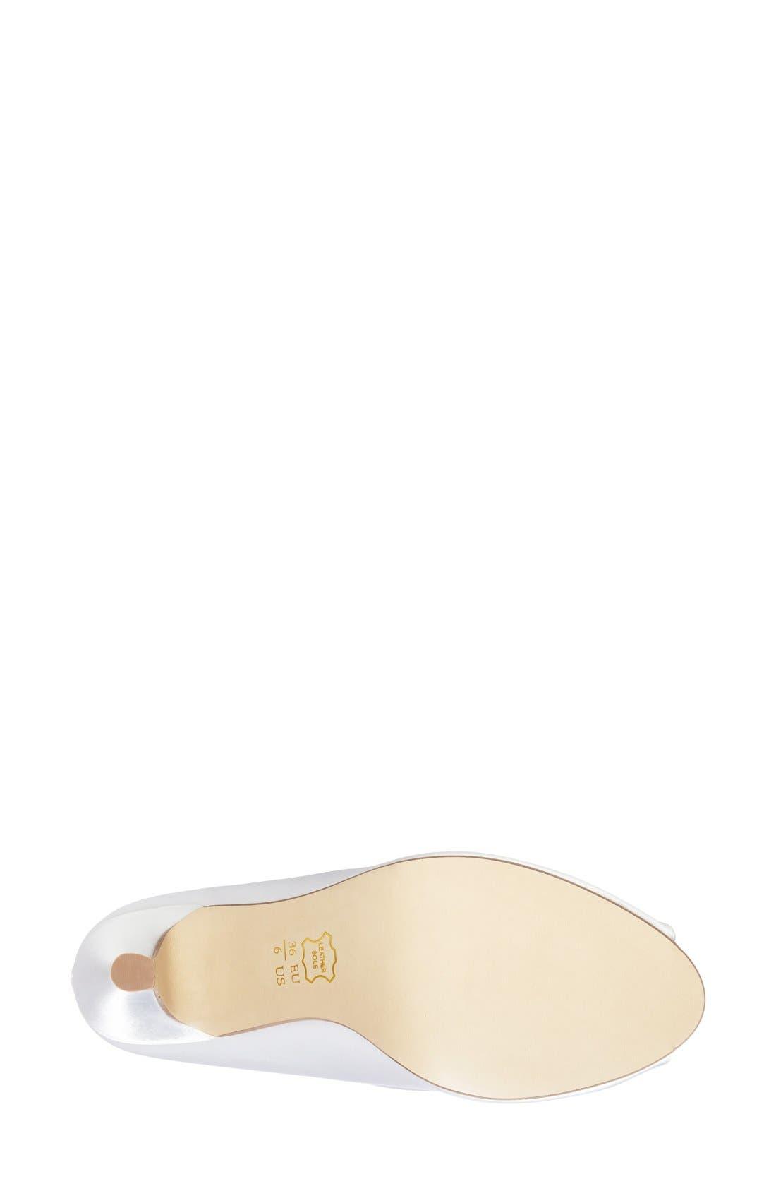 Alternate Image 4  - pink paradox london 'Lustre' Crystal Embellished Peep Toe Pump (Women)