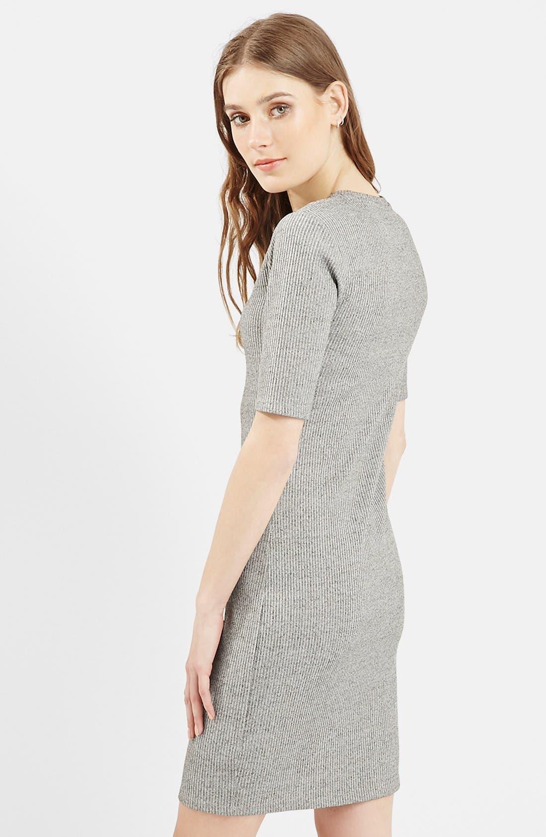 Alternate Image 3  - Topshop Half Sleeve Ribbed Body-Con Dress