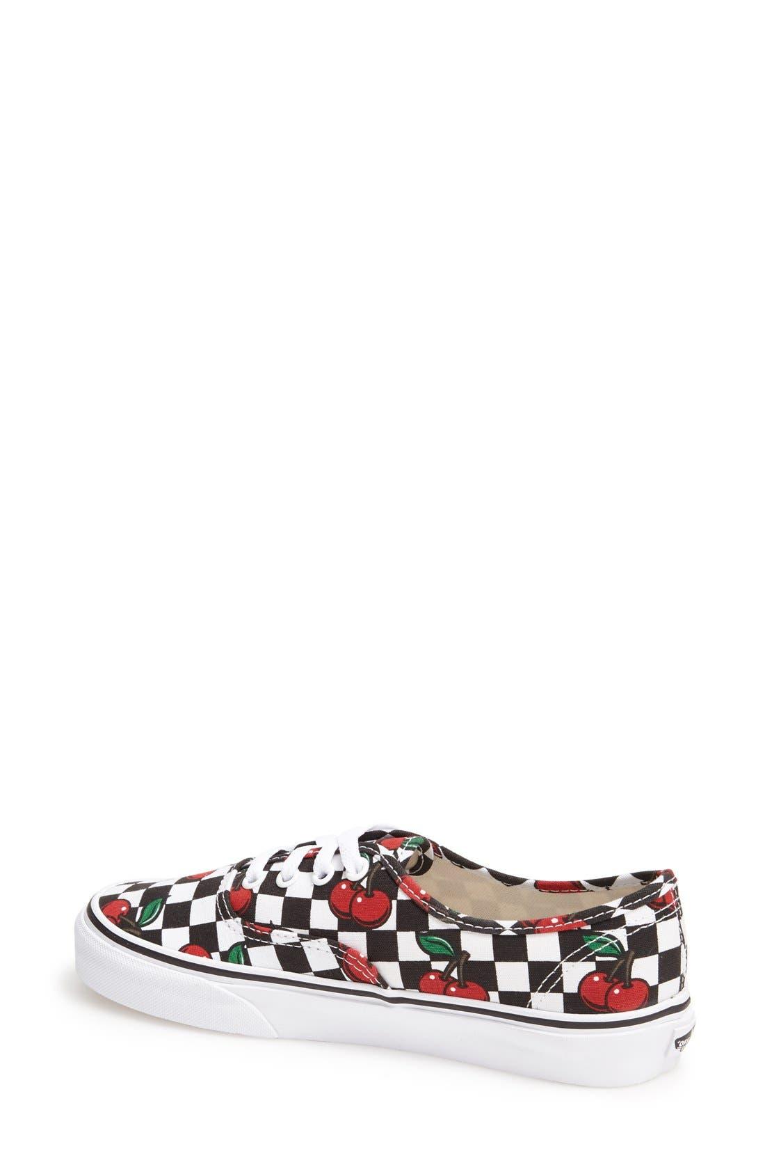 Alternate Image 2  - Vans 'Authentic - Cherry' Sneaker (Women)