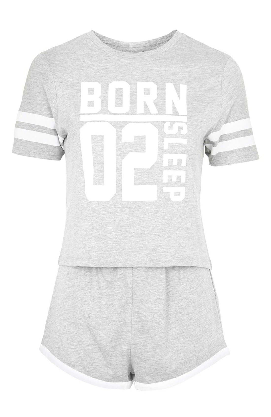 Alternate Image 3  - Topshop 'Born to Sleep' Short Pajamas