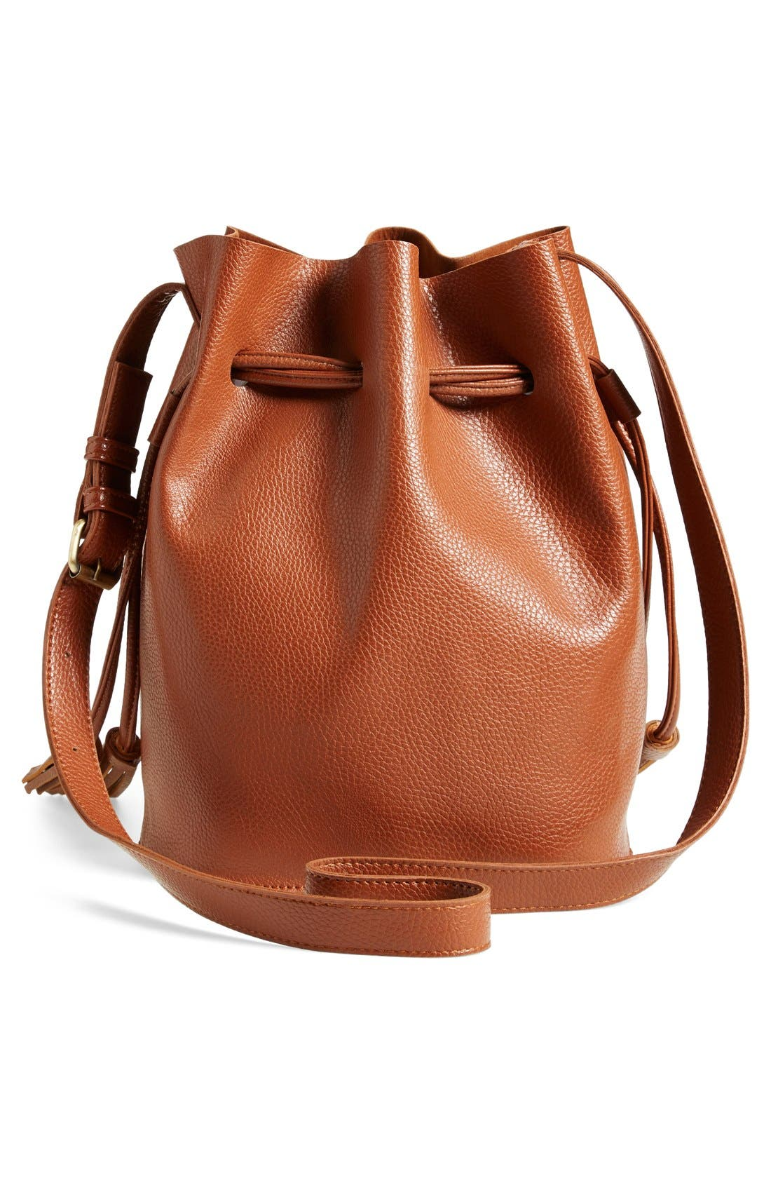 Alternate Image 3  - Street Level Faux Leather Bucket Bag (Online Only)
