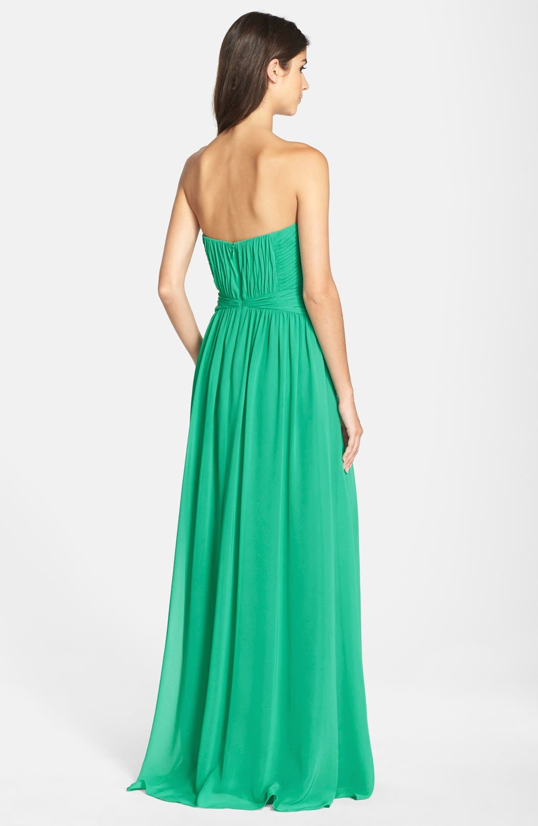 Alternate Image 2  - Hailey by Adrianna Papell Chiffon Fit & Flare Gown
