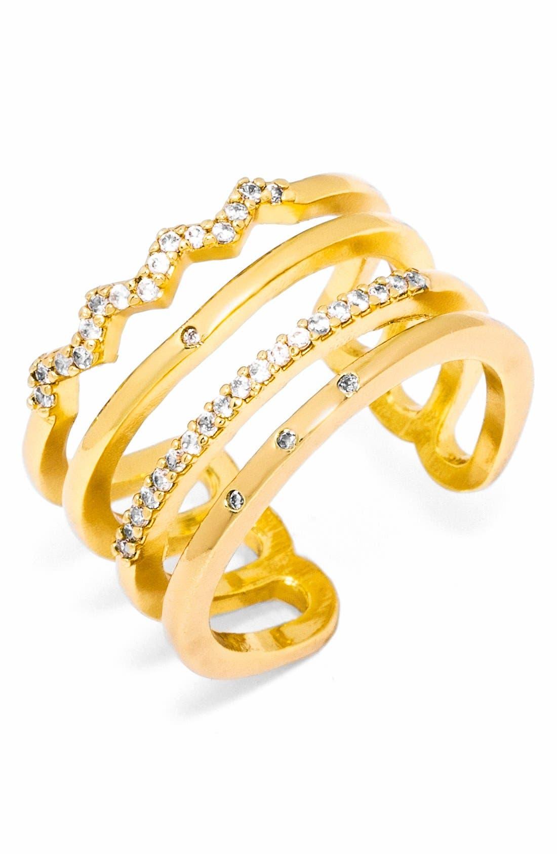Alternate Image 1 Selected - BaubleBar Open Pavé Ring