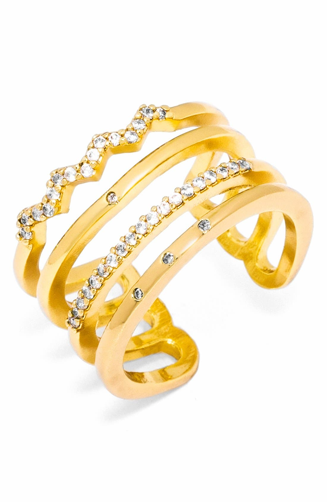 Main Image - BaubleBar Open Pavé Ring