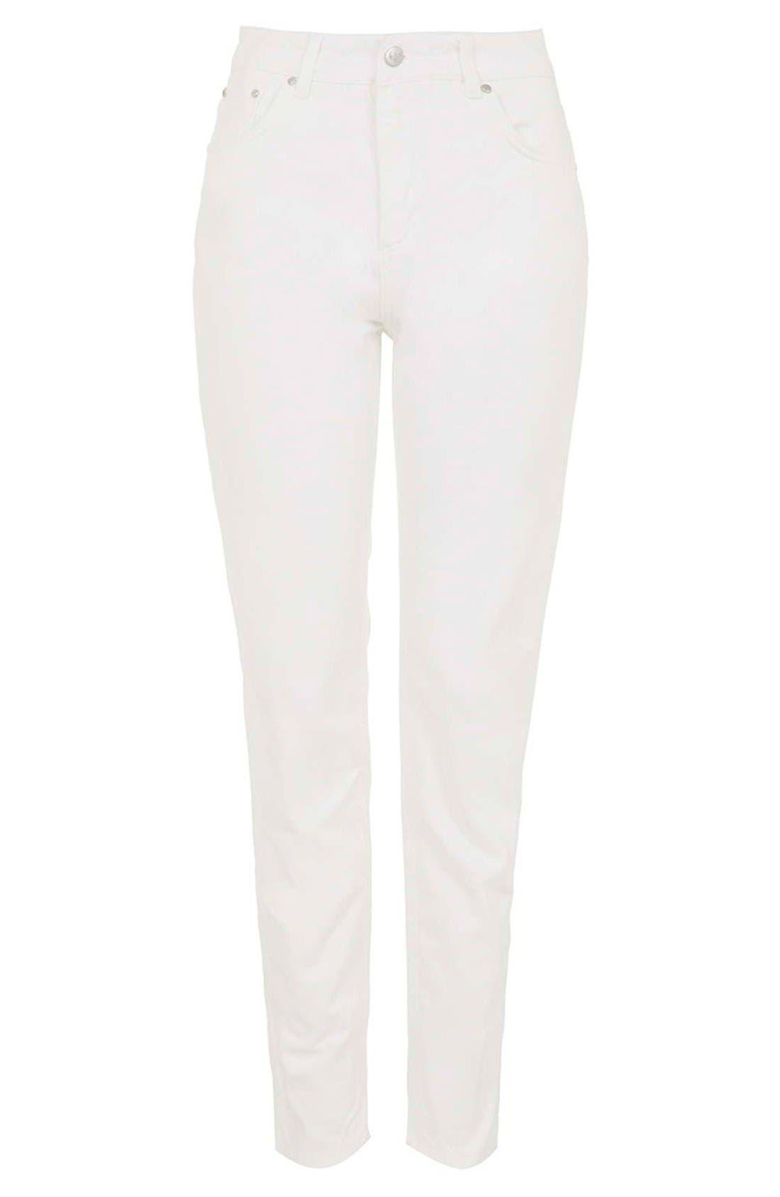 Alternate Image 3  - Topshop Boutique Slim Leg Jeans (Cream)