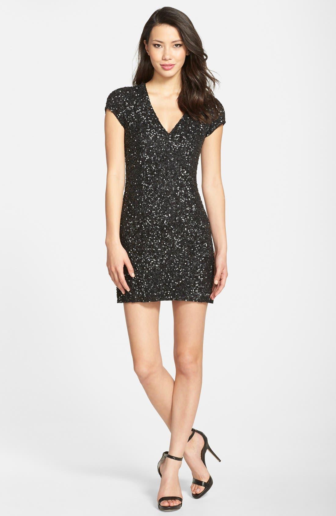 Alternate Image 3  - Parker 'Serena' Sequin Sheath Dress