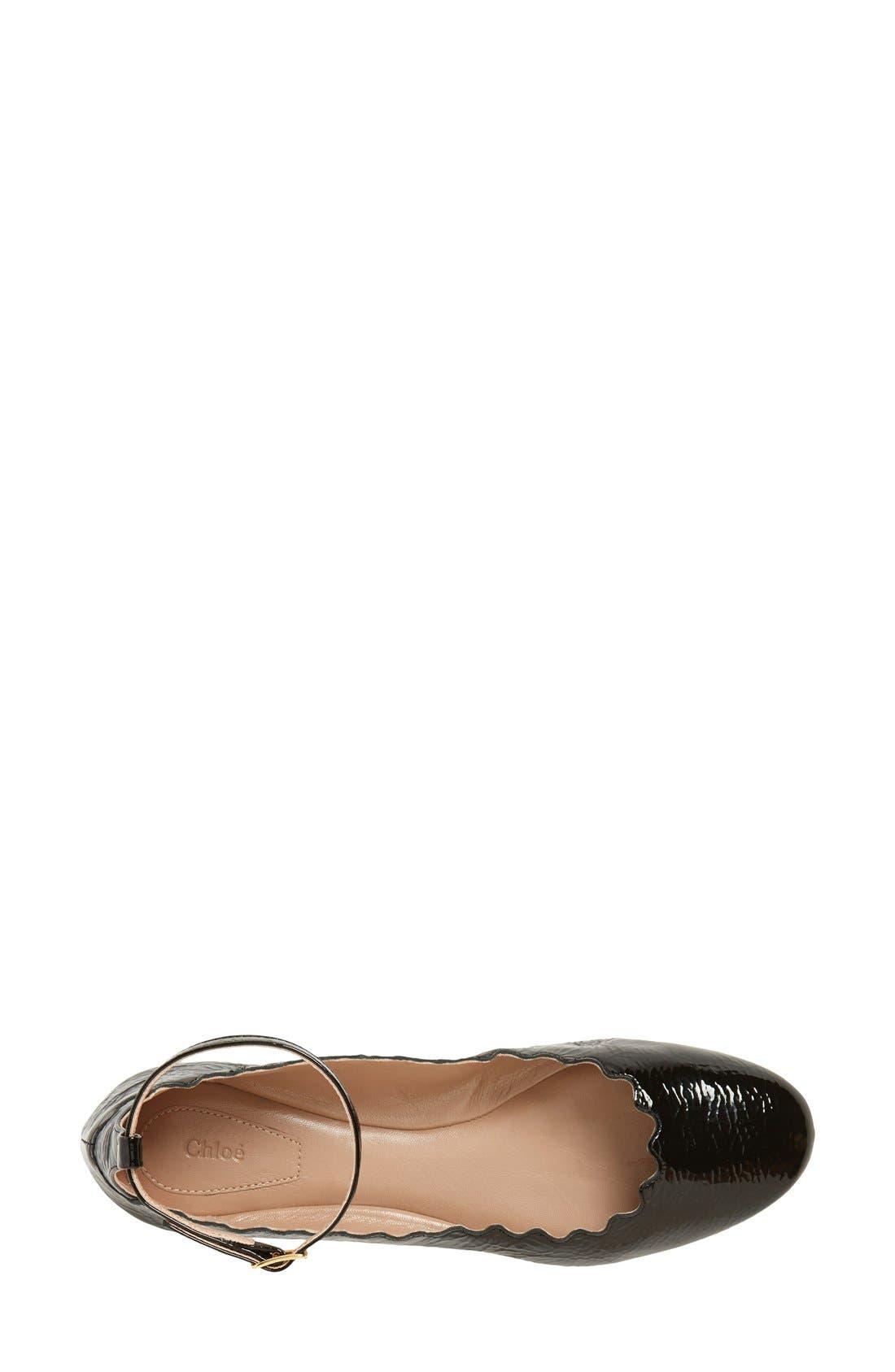 Alternate Image 3  - Chloé 'Laurent' Ankle Strap Flat (Women)