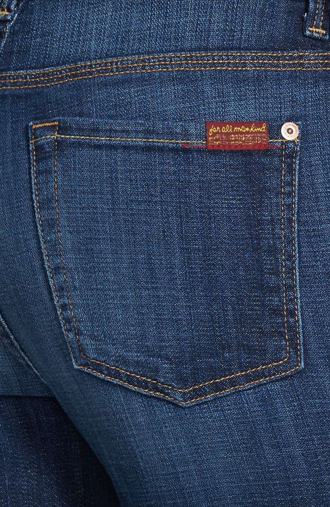 Alternate Image 3  - 7 For All Mankind® 'Ginger' High Rise Flare Jeans (Royal Broken Twill)