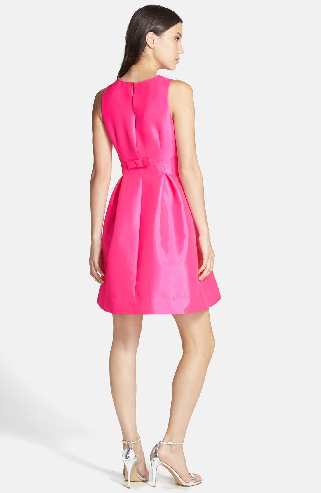 Alternate Image 2  - Kaya & Sloane Satin Fit & Flare Dress