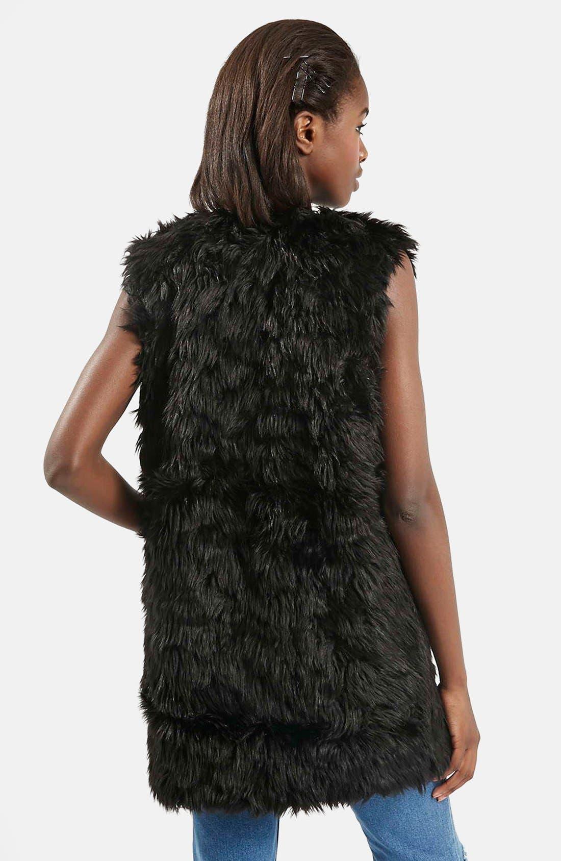 Alternate Image 3  - Topshop Shaggy Faux Fur Vest