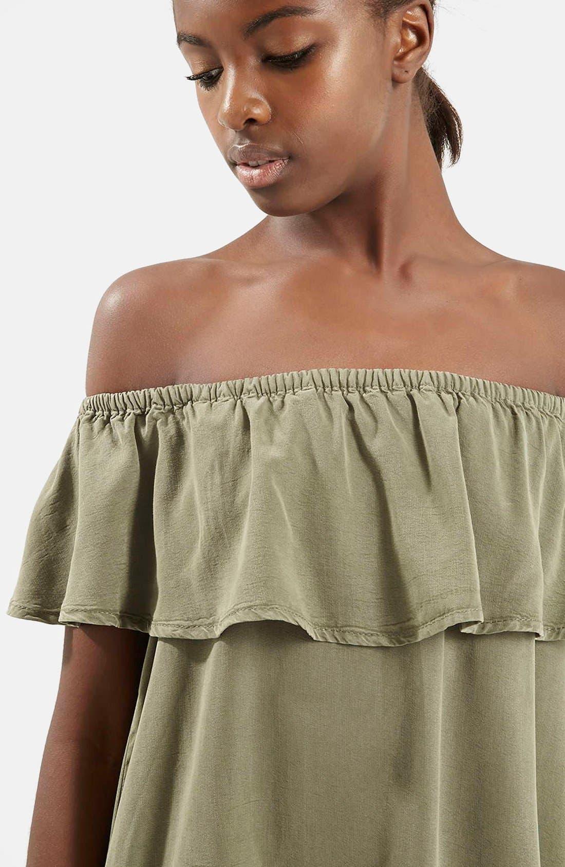 Alternate Image 4  - Topshop Ruffled Off the Shoulder Dress