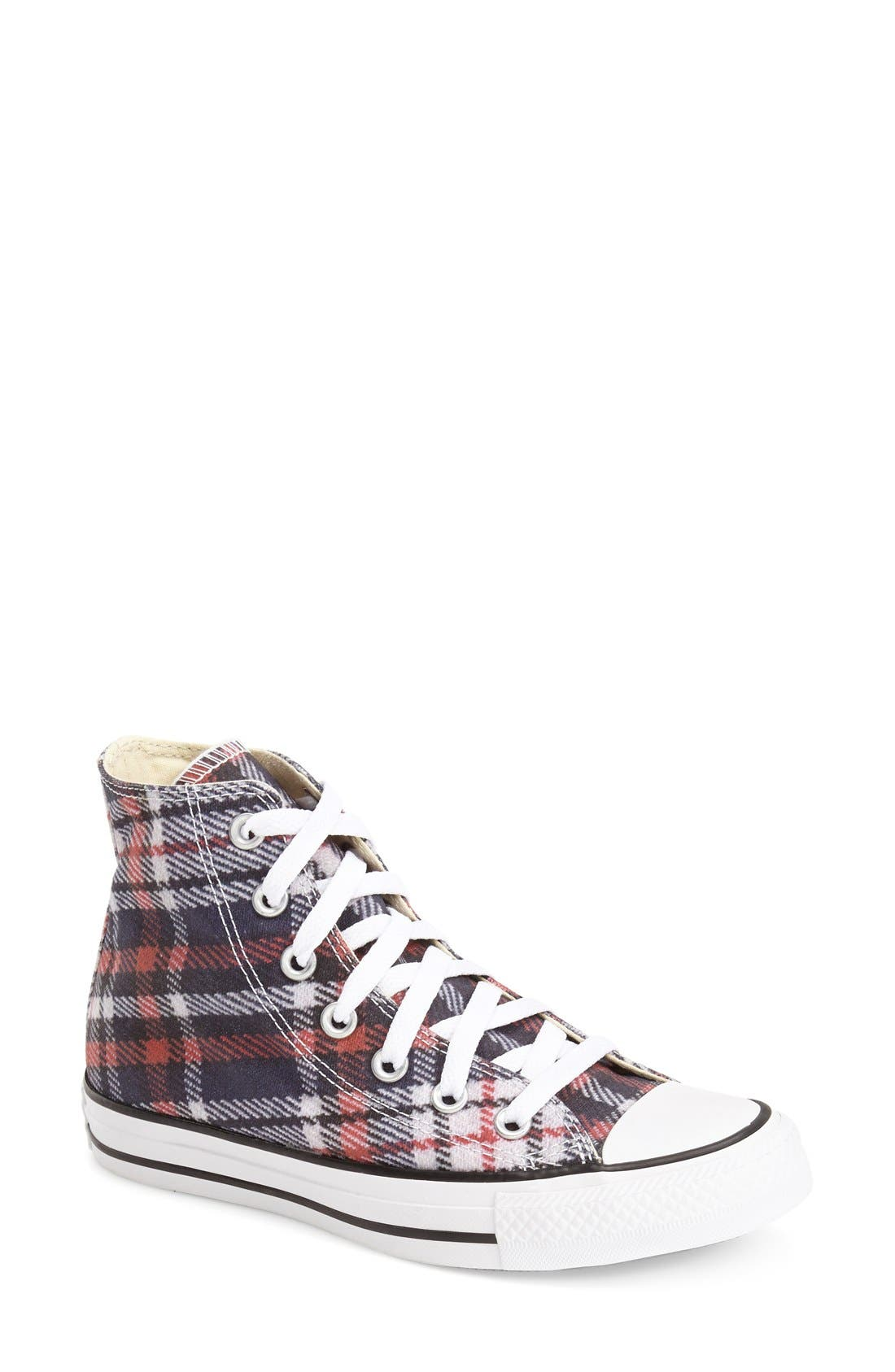 Alternate Image 1 Selected - Converse Chuck Taylor® All Star® Plaid High Top Sneaker (Women)