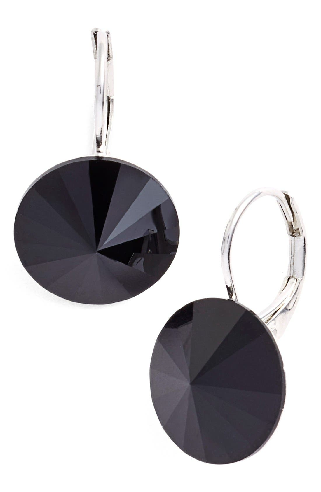 L. ERICKSON 'Celeste' Round Crystal Drop Earrings