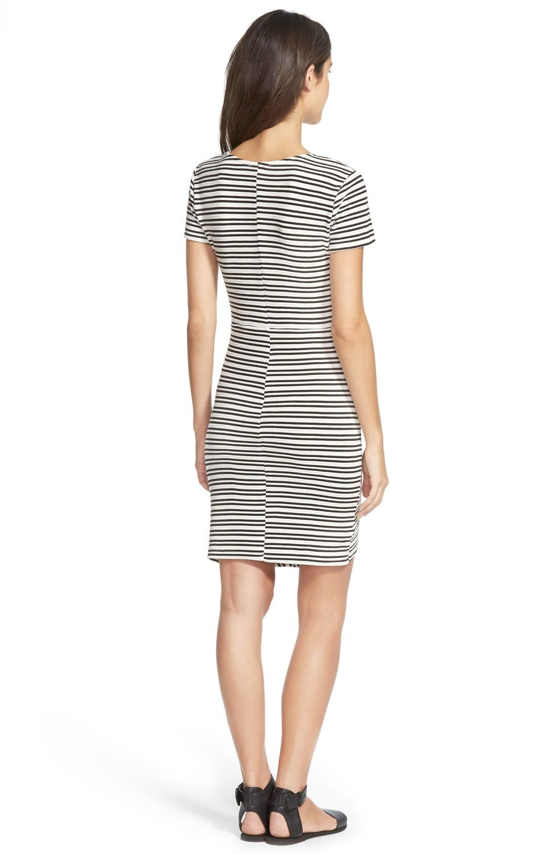Alternate Image 2  - Lush Stripe Knit Body-Con Dress