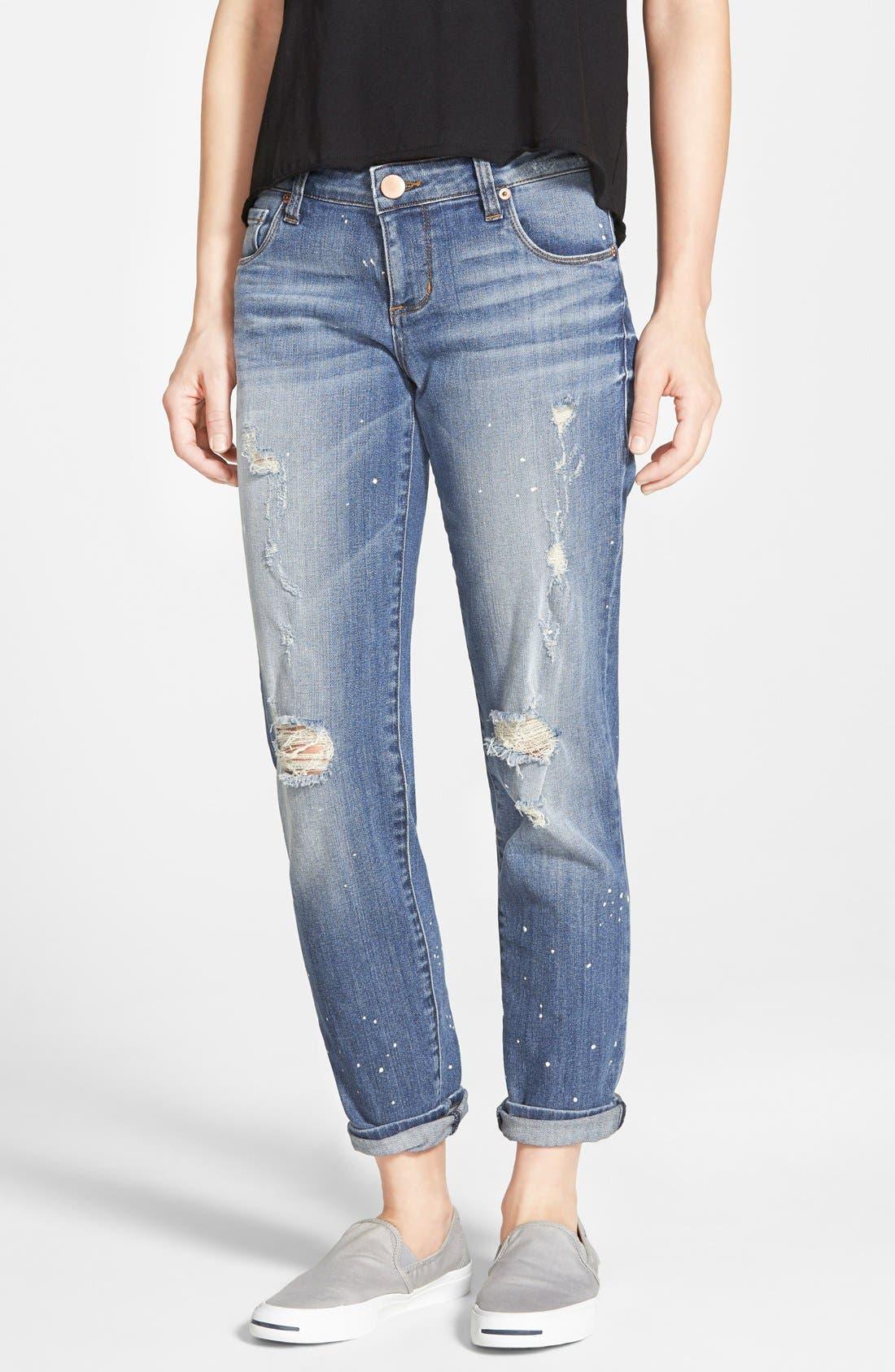 Main Image - STS Blue 'Joey' Distressed Splatter Boyfriend Jeans