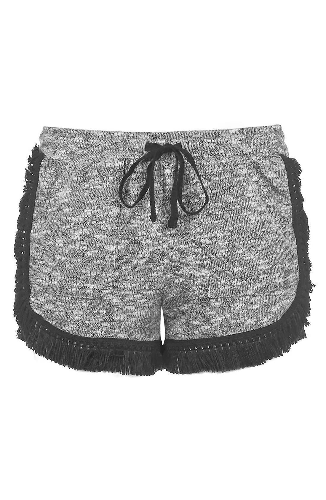 Alternate Image 4  - Topshop Fringe Drawstring Shorts
