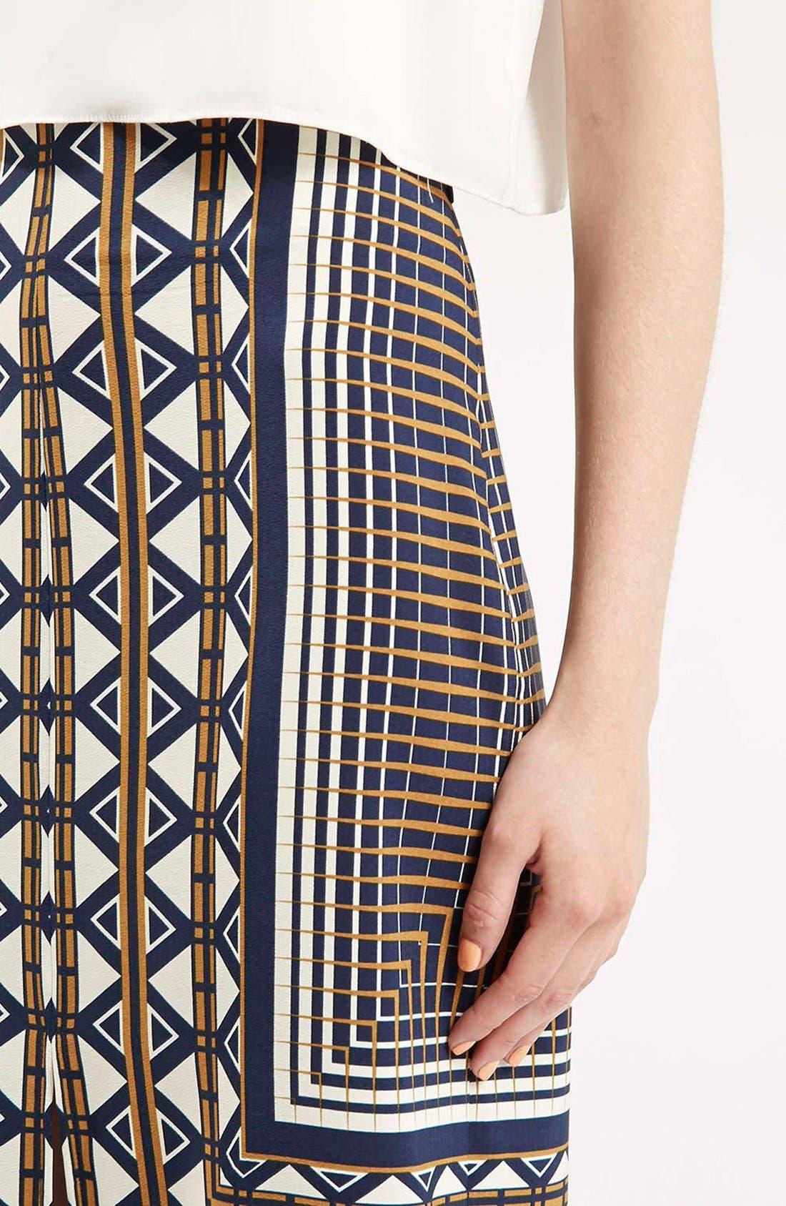 Alternate Image 5  - Topshop Print Midi Skirt