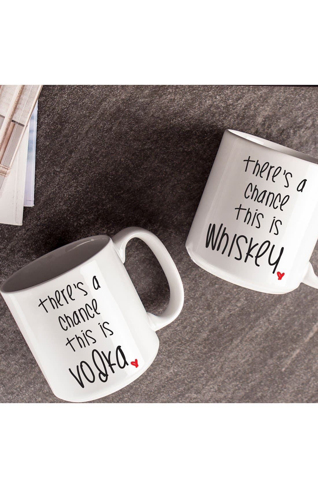 Alternate Image 3  - Cathy's Concepts 'There's a Chance' Ceramic Coffee Mugs (Set of 2)
