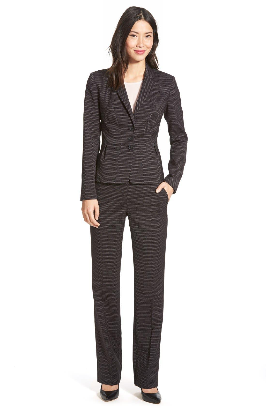 Alternate Image 4  - Halogen® 'Taylor' Darling Dot Suit Pants (Regular & Petite)