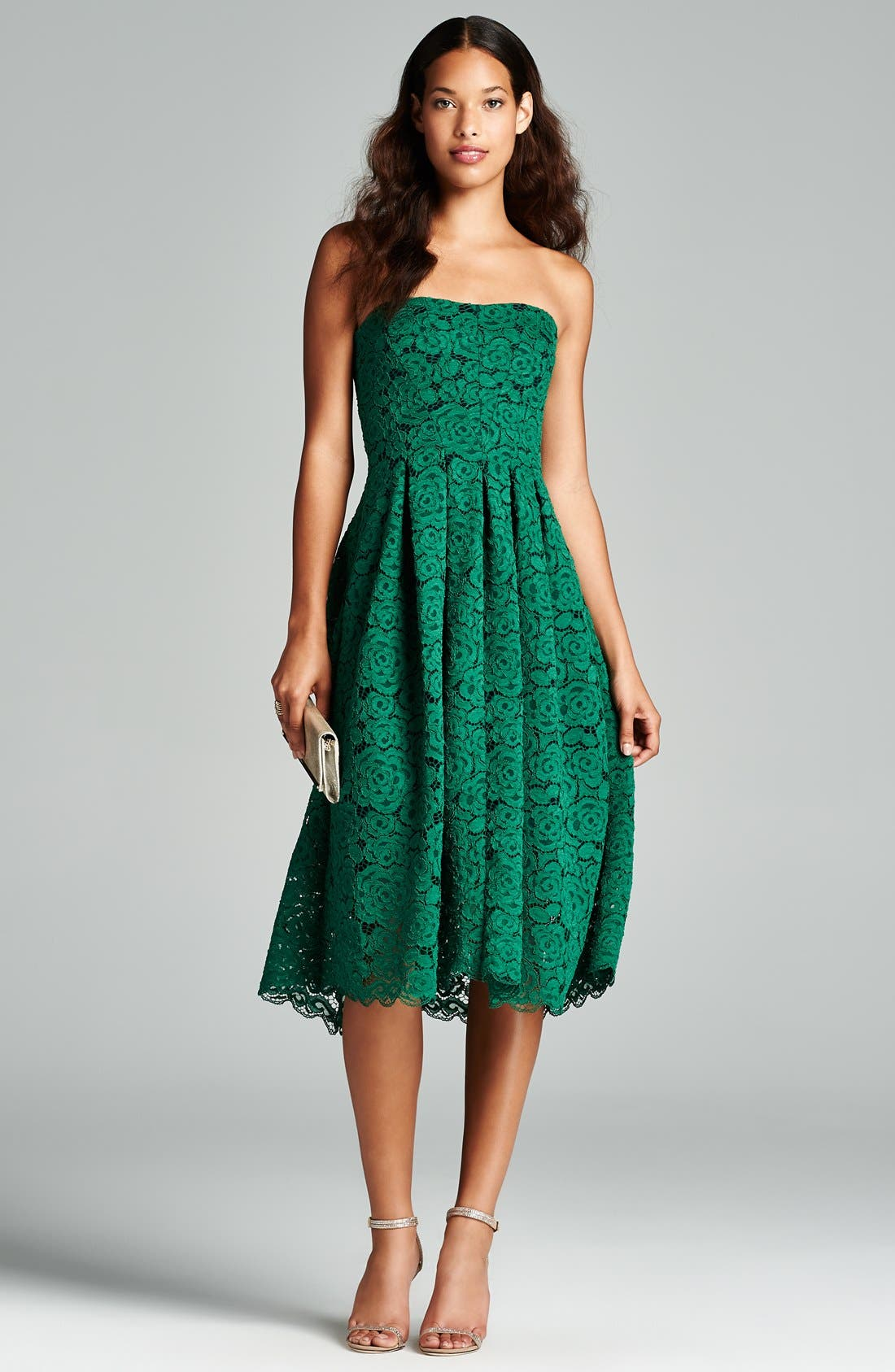 Alternate Image 5  - Vera Wang Lace Fit & Flare Dress