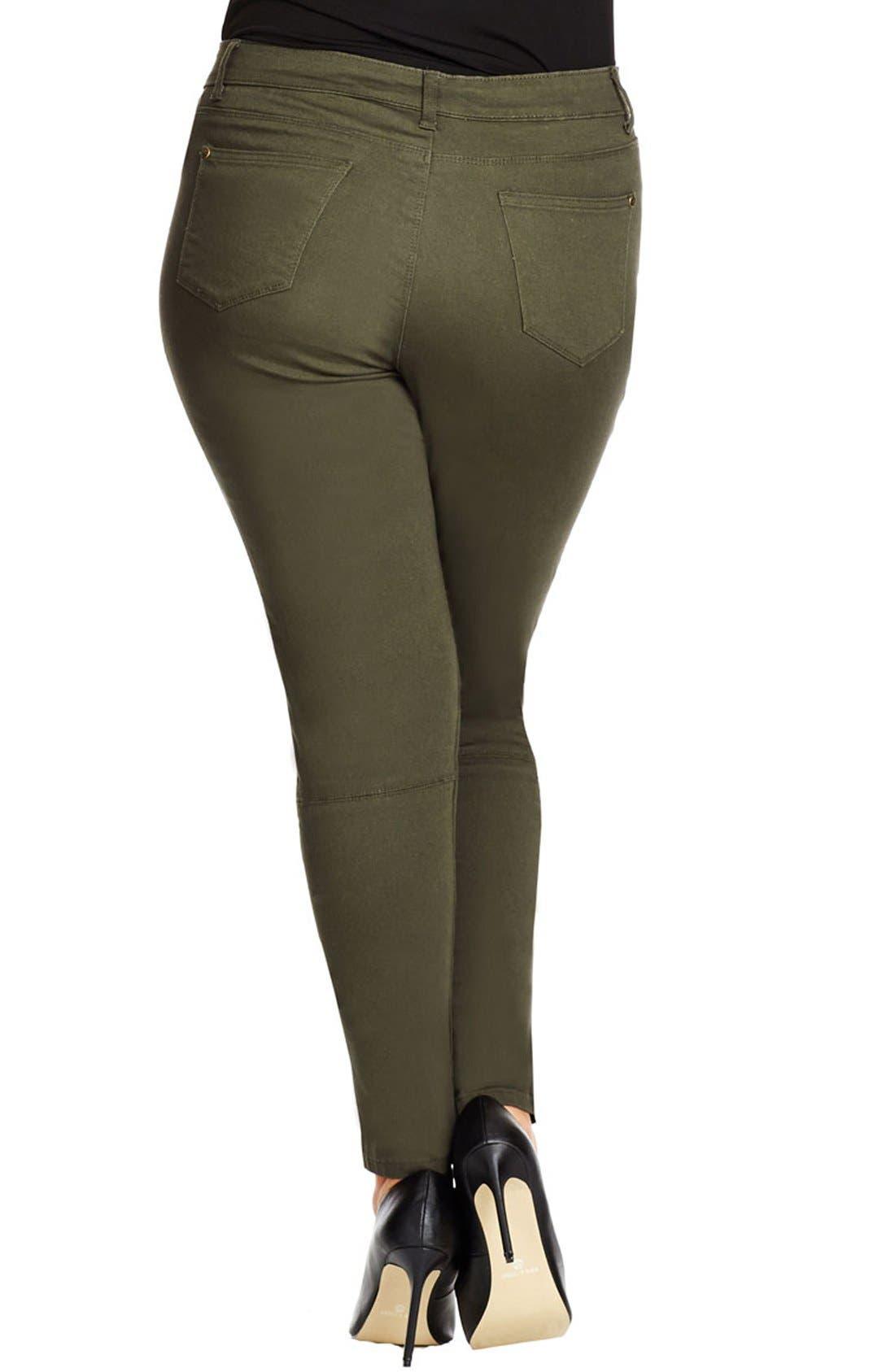 Alternate Image 3  - City Chic 'Commando' Khaki Pants (Plus Size)