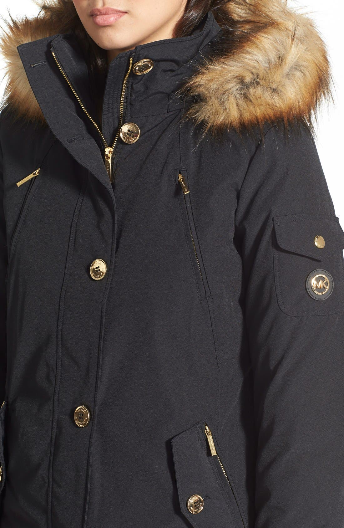 Alternate Image 5  - MICHAEL Michael Kors 'Expedition' Faux Fur Trim Down & Feather Fill Parka
