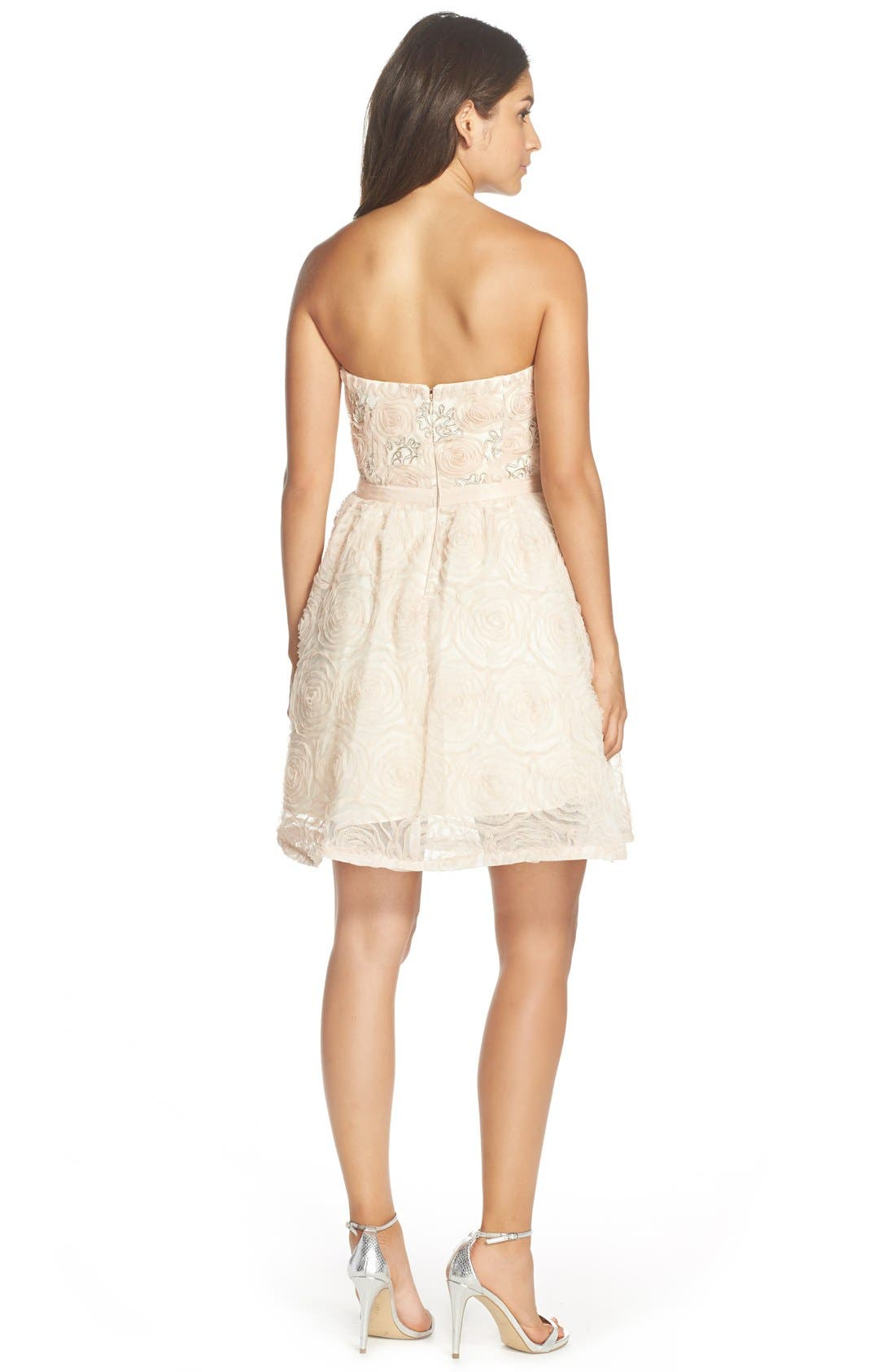 Alternate Image 2  - Adrianna PapellEmbellished Tulle Fit & Flare Dress
