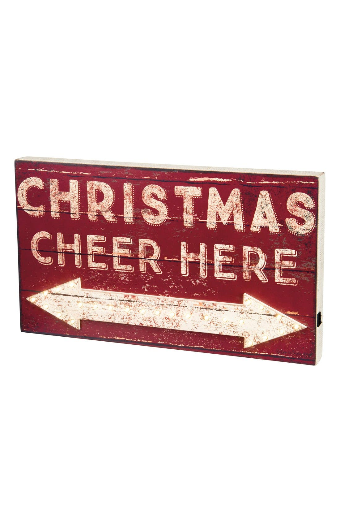 Alternate Image 1 Selected - Primitives by Kathy 'Christmas Cheer Here' LED Box Sign