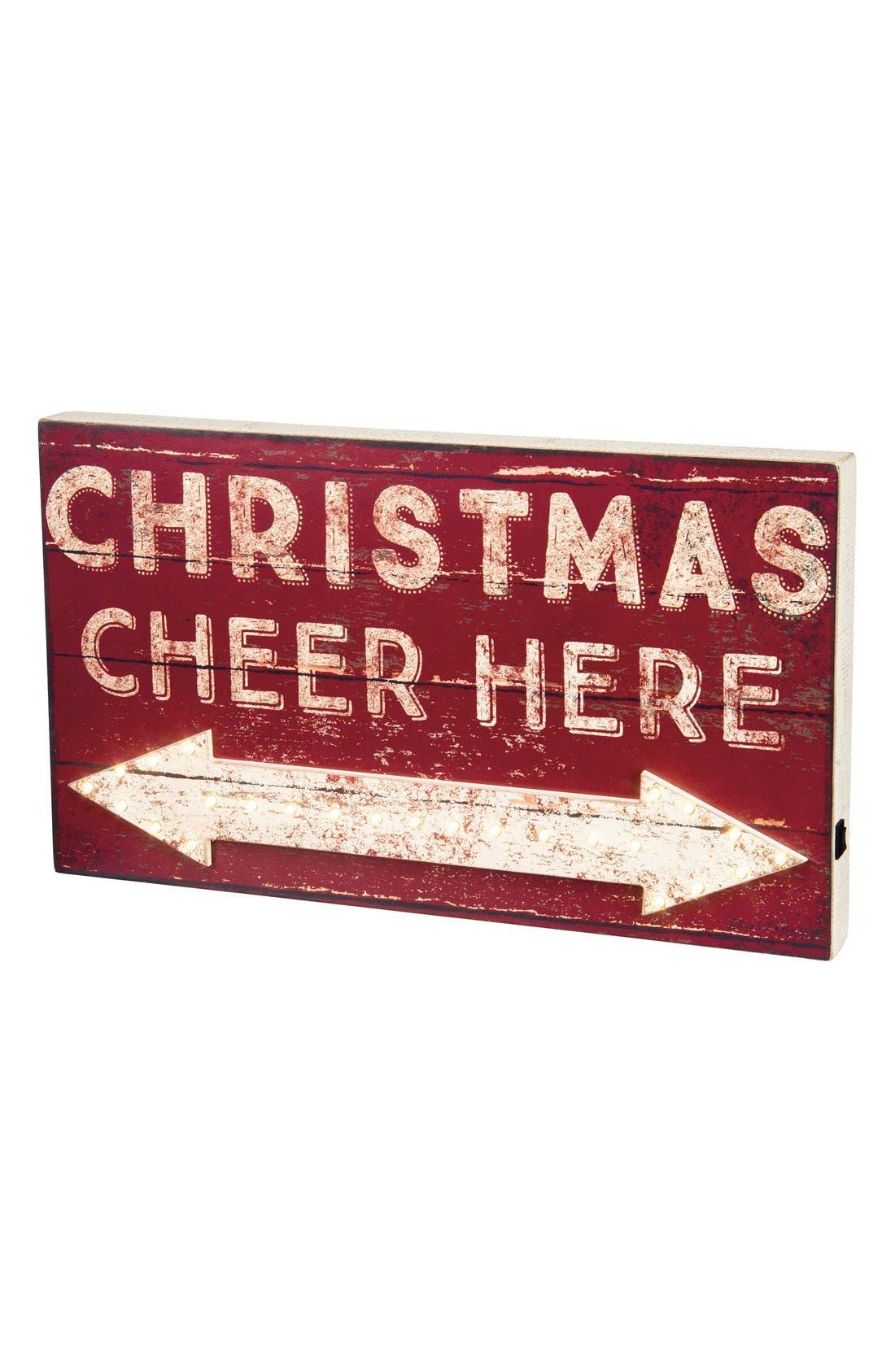 Main Image - Primitives by Kathy 'Christmas Cheer Here' LED Box Sign