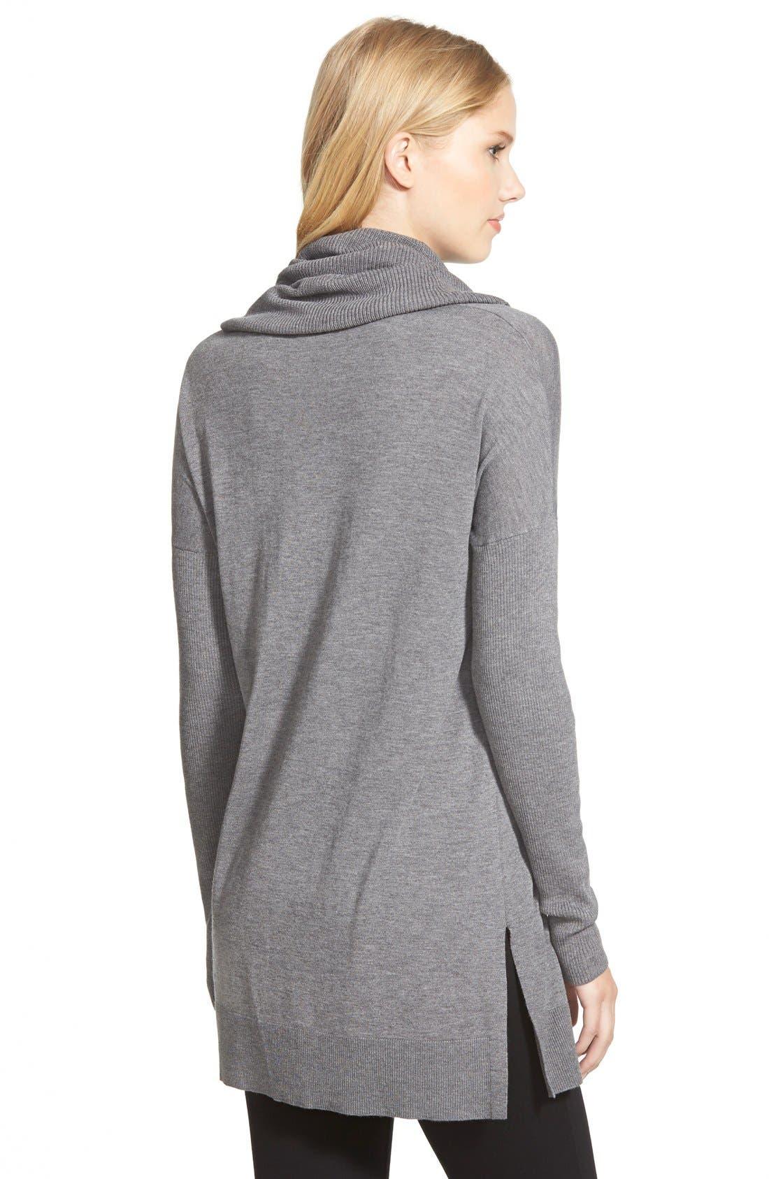 Alternate Image 2  - Caslon® Side Slit Cowl Neck Tunic (Regular & Petite)