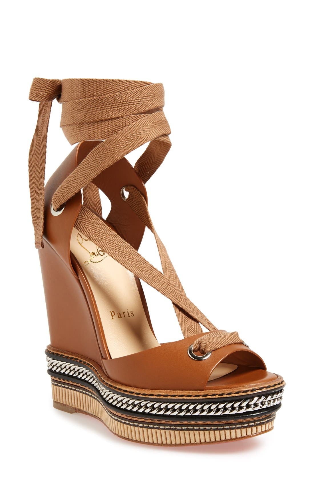Alternate Image 1 Selected - Christian Louboutin 'Tribuli' Wedge Sandal