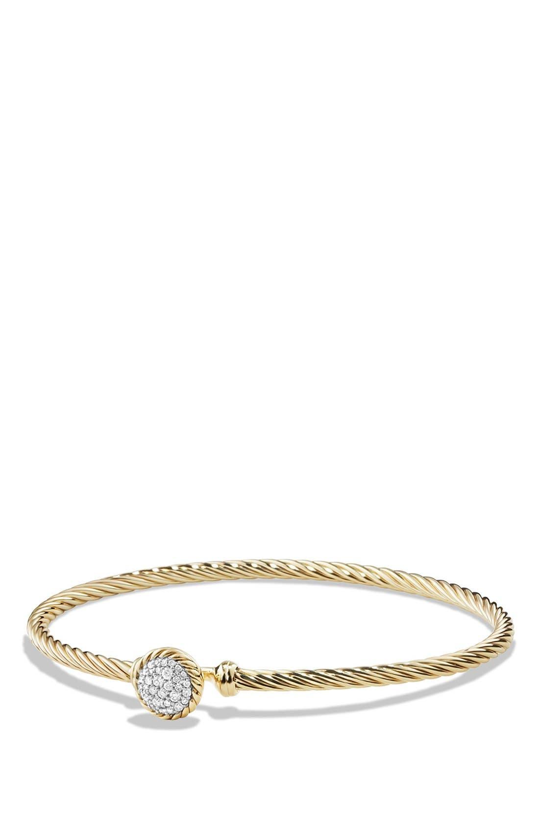 Alternate Image 1 Selected - David Yurman 'Châtelaine' Bracelet with Diamonds in 18K Gold