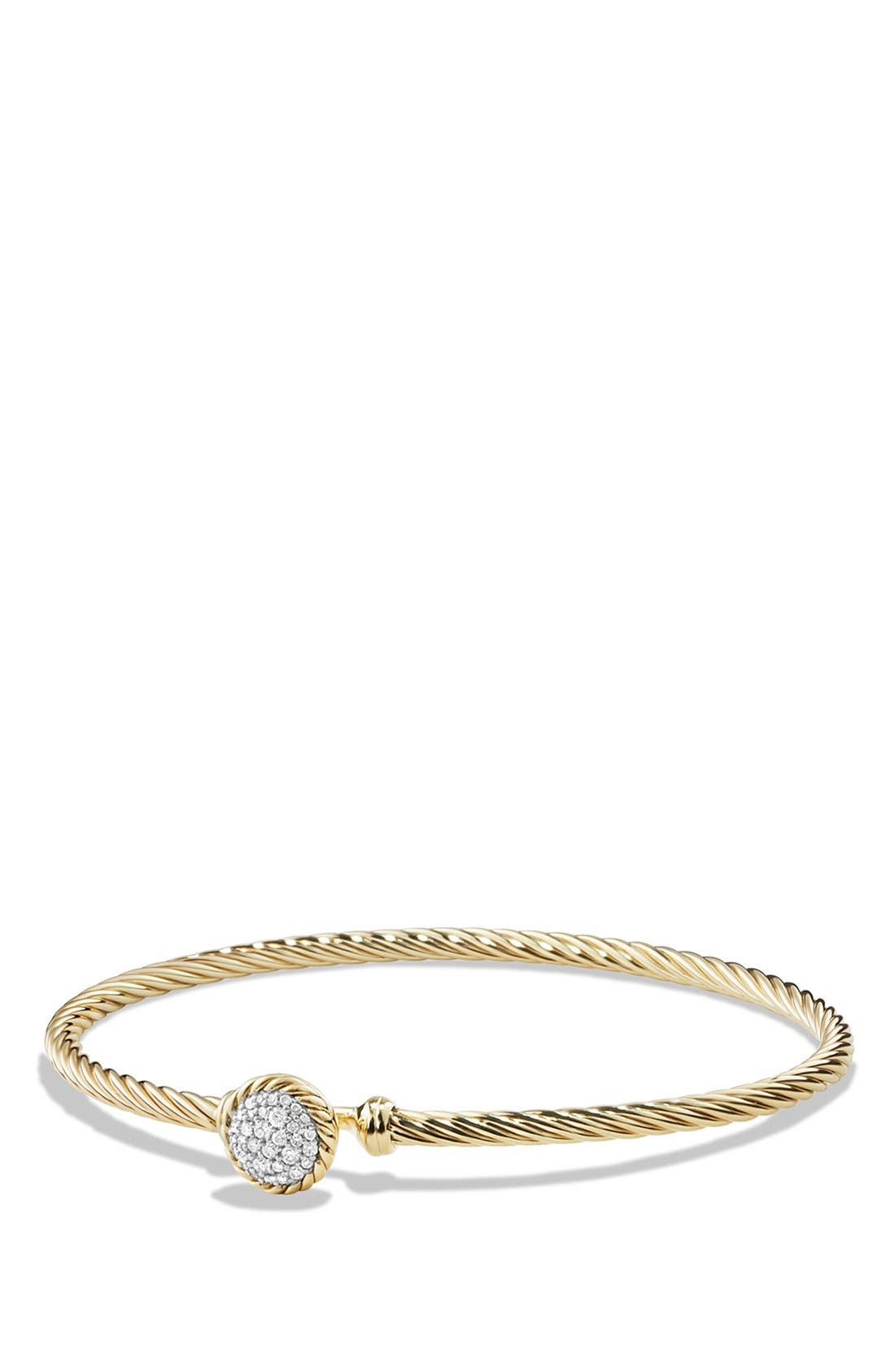 DAVID YURMAN 'Châtelaine' Bracelet with Diamonds in 18K