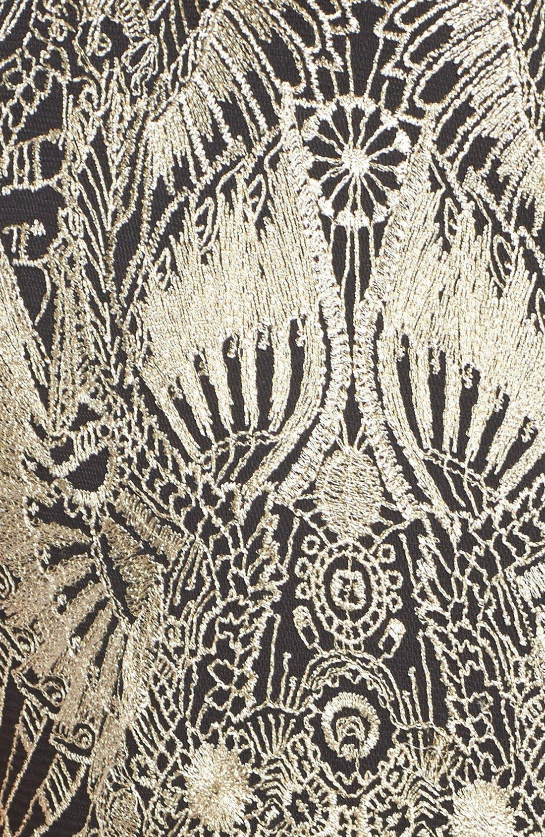 Alternate Image 3  - TadashiShojiEmbroidered NeopreneSheath Dress