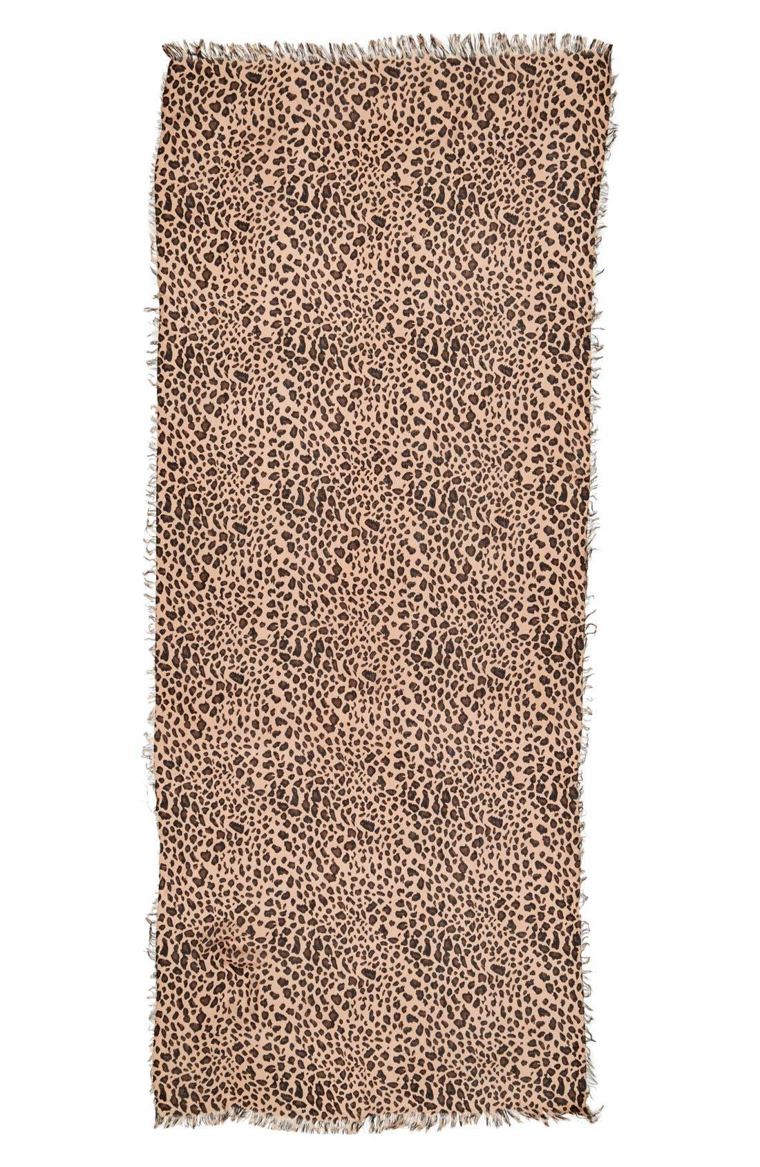 Alternate Image 2  - Sole Society Leopard Print Scarf