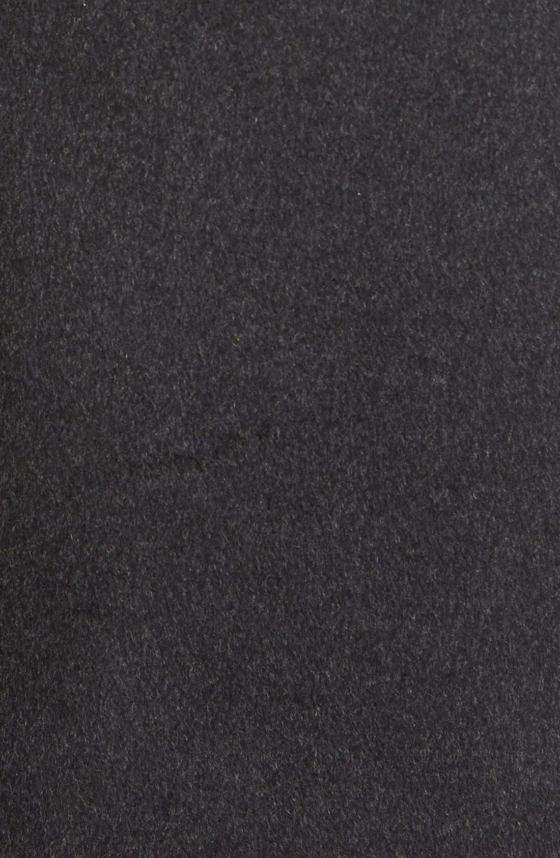 Alternate Image 6  - Vera Wang 'Sophie' Faux Fur Collar Mixed Media Coat