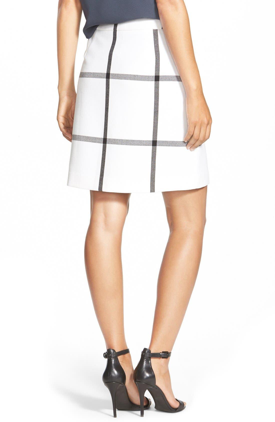 Alternate Image 3  - Halogen® Pleat Front A-Line Skirt