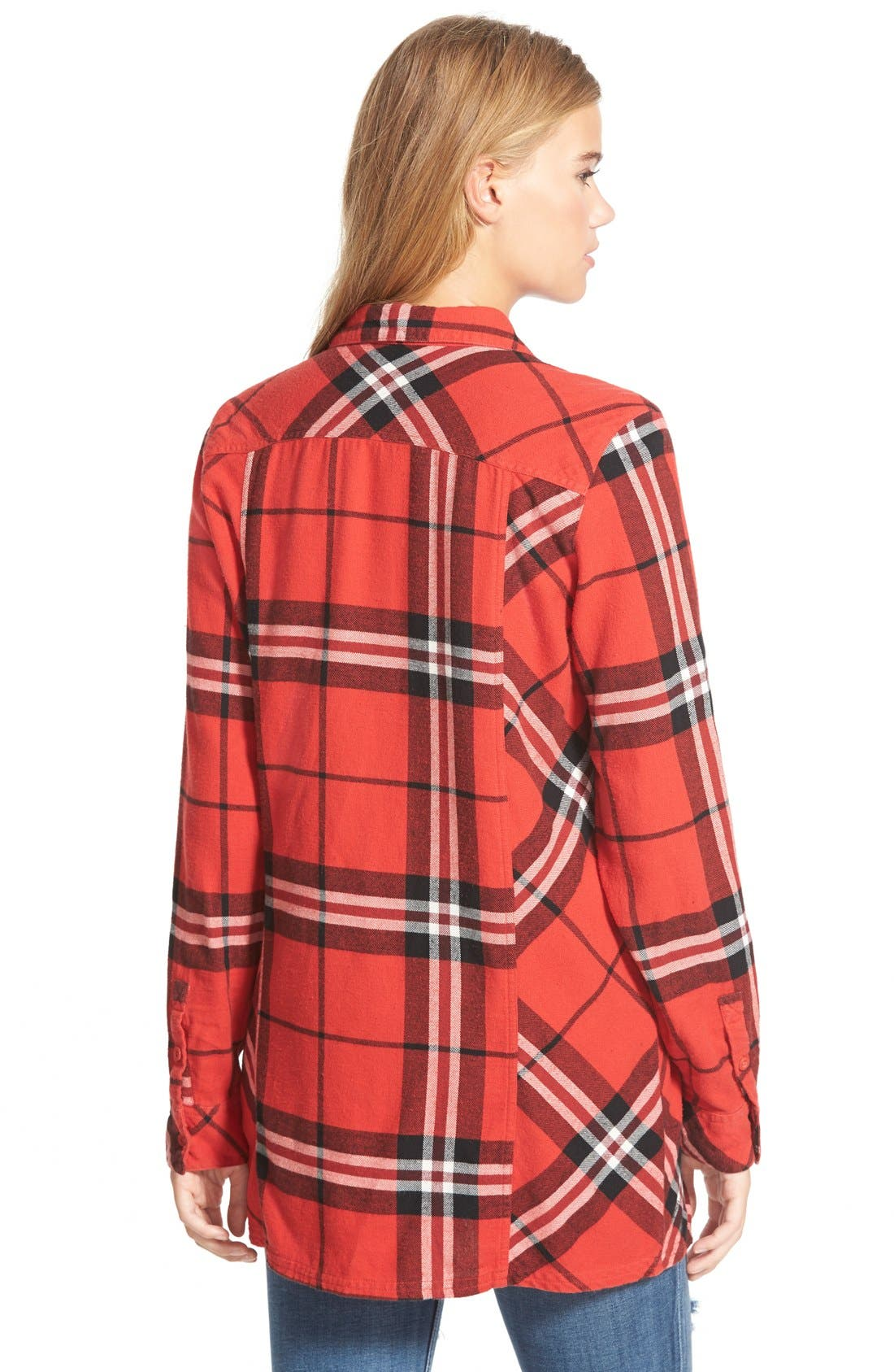 Alternate Image 2  - Volcom 'Love Me Not' Plaid Button Front Tunic