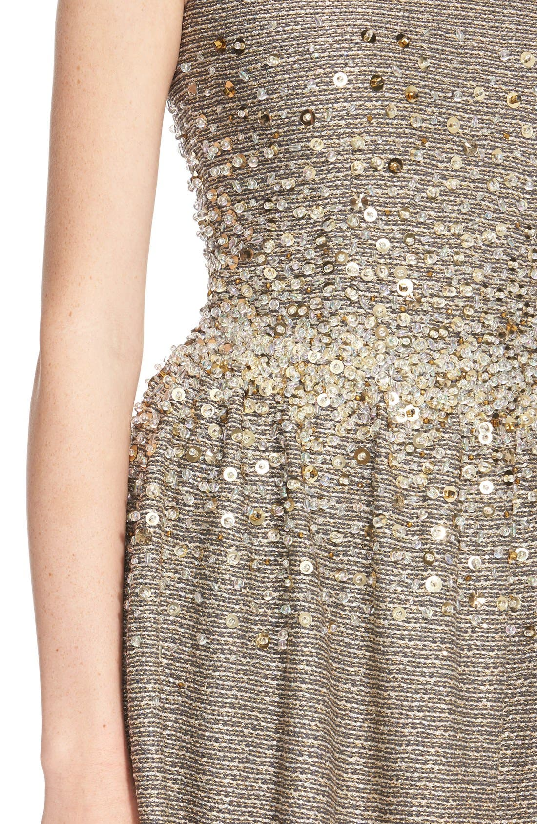 Alternate Image 3  - St. John Collection Hand Beaded Bauble Knit Dress