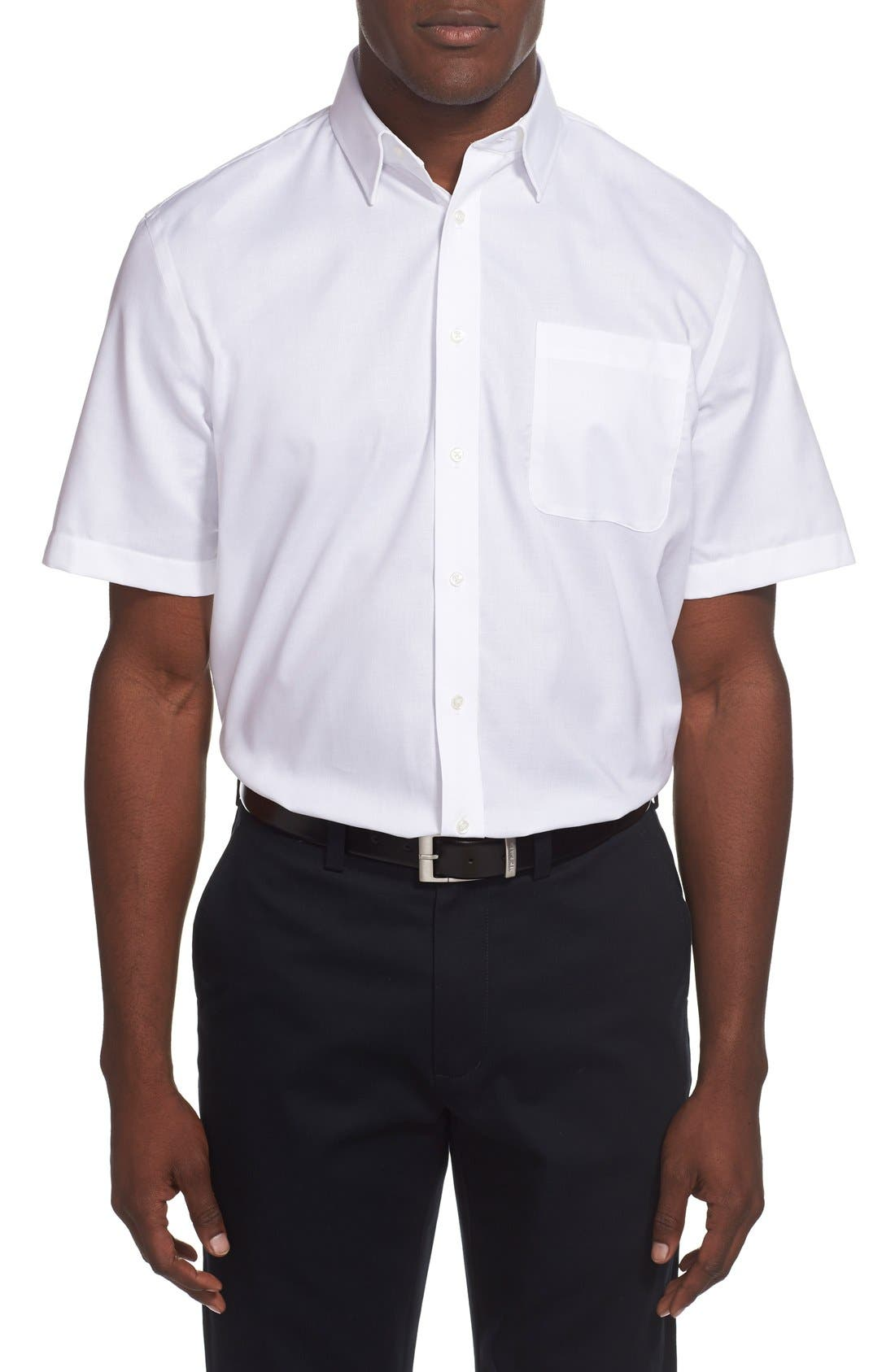 Alternate Image 2  - Nordstrom Men's Shop Traditional Fit Non-Iron Short Sleeve Dress Shirt