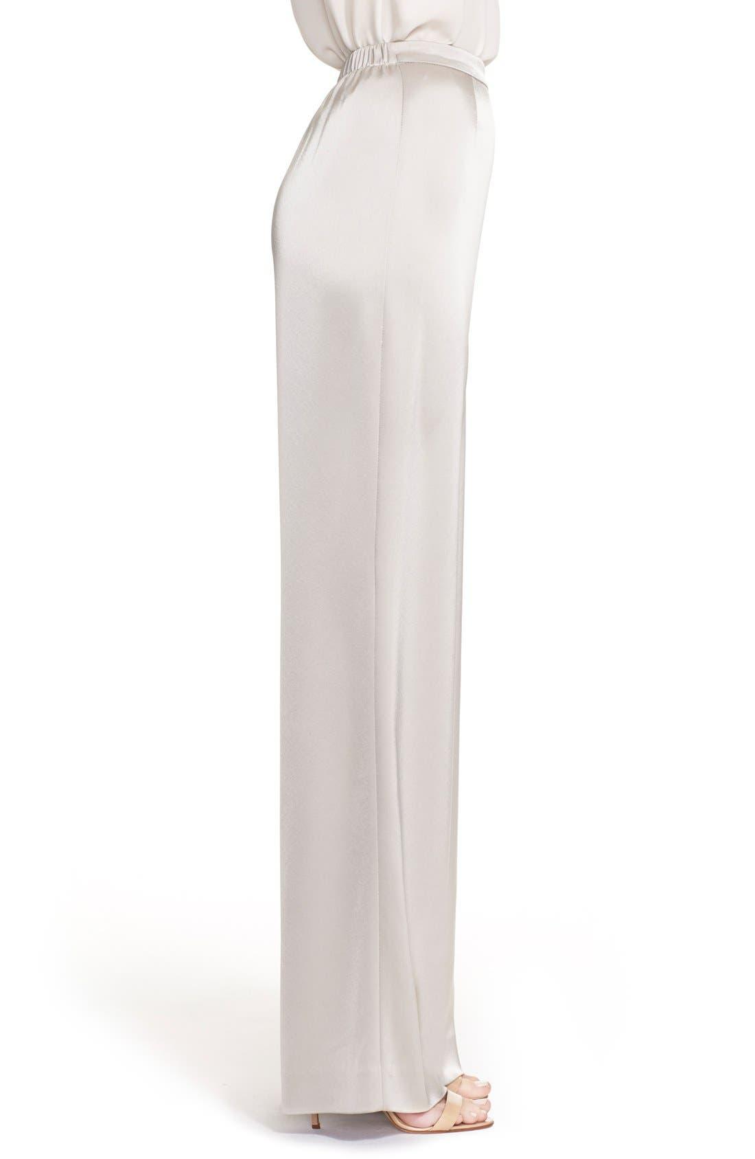 Alternate Image 4  - St. John Collection 'Kate' Liquid Satin Pants