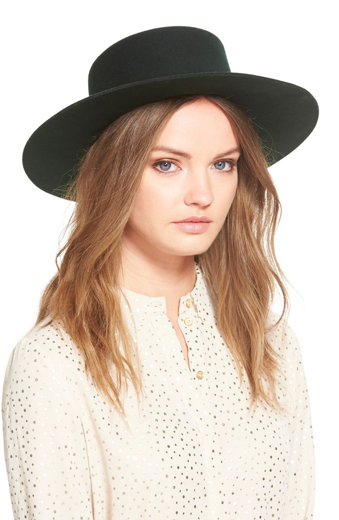Alternate Image 1 Selected - Janessa Leone 'Mica' Wool Felt Hat