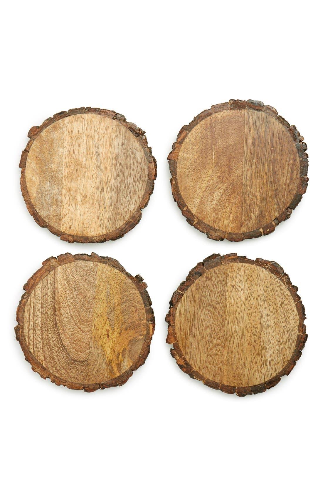 Thirstystone Round Wooden Coasters (Set of 4)
