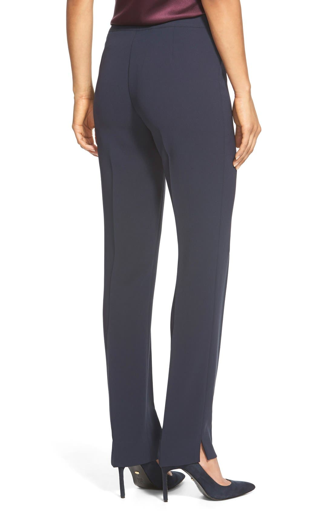 Alternate Image 2  - Lafayette 148 New York 'Bleecker - Finesse Crepe' Pants (Regular & Petite)
