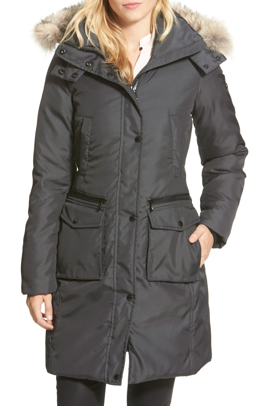 Main Image - Andrew Marc Long Down Parka with Genuine Coyote Fur Trim