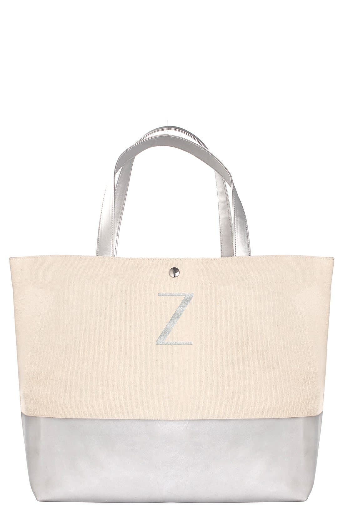 Alternate Image 1 Selected - Cathy's Concepts Monogram Canvas Tote