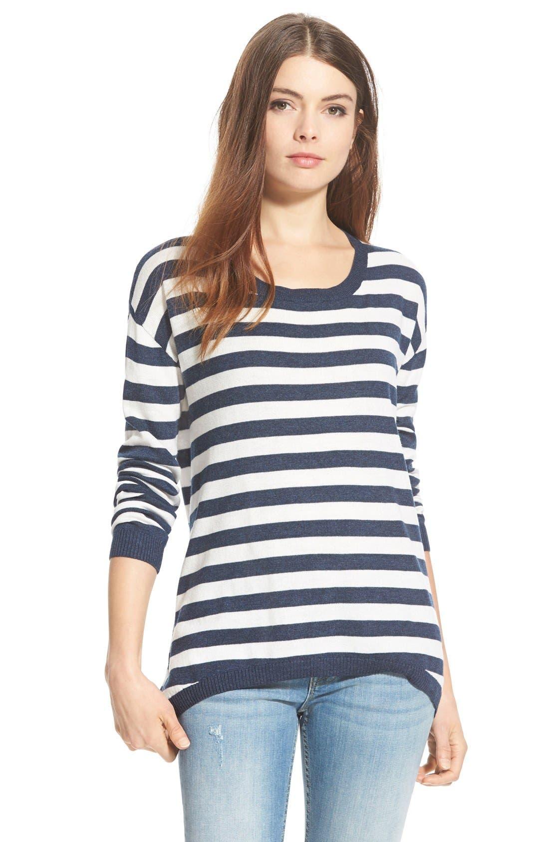 Alternate Image 1 Selected - BP. Stripe Scoop Neck Pullover