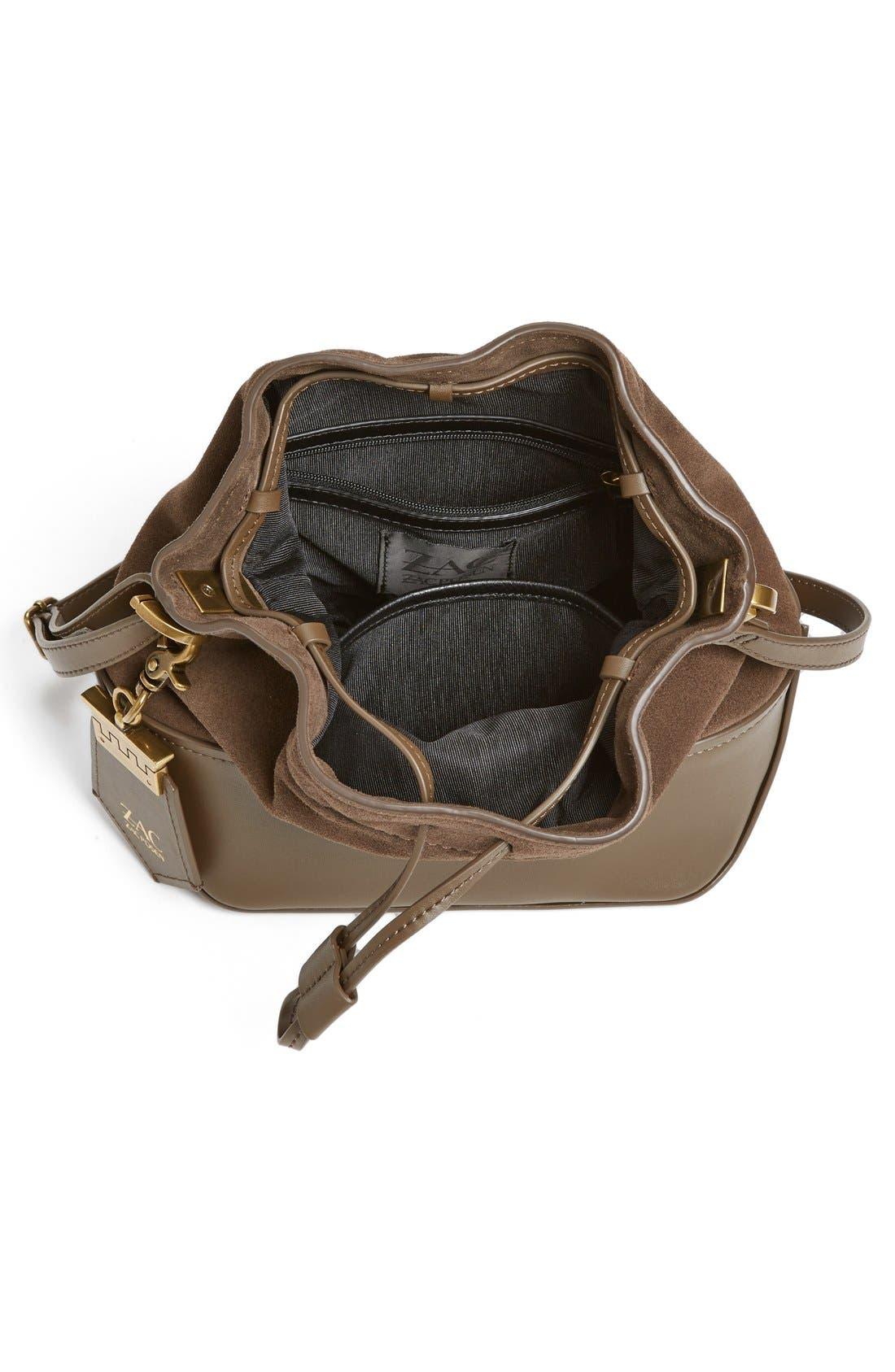 Alternate Image 4  - ZAC Zac Posen 'Mini Eartha' Calfskin Bucket Bag